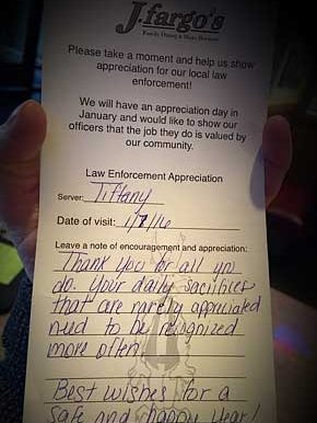 Law Enforcement Officer Appreciation