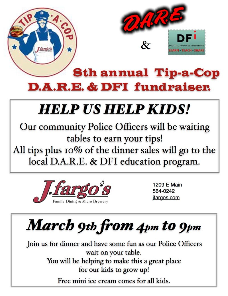 Tip-A-Cop for D.A.R.E. and DFI